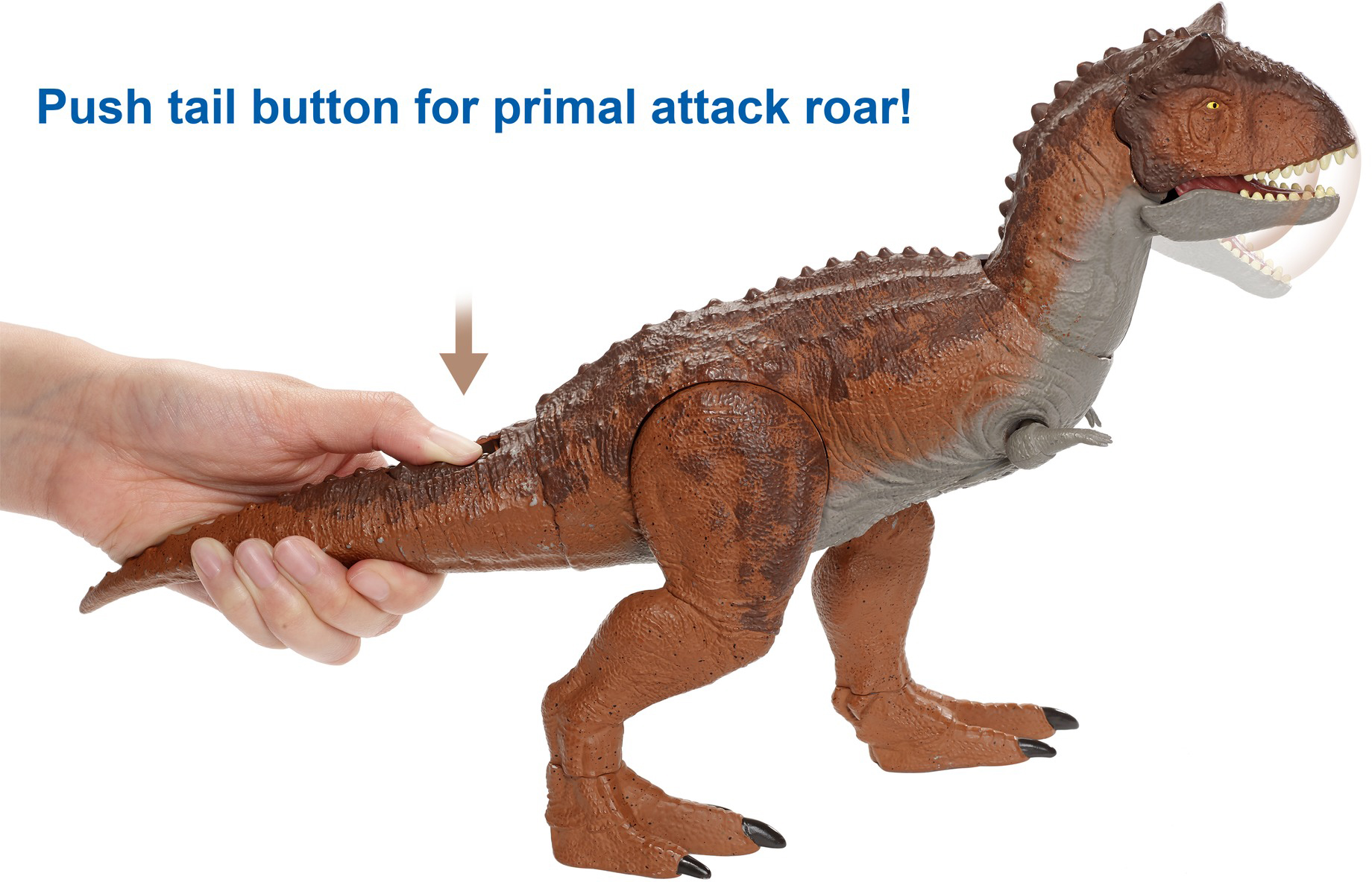 Jurassic World Primal attaque contrôle /'N conquérir Carnotaurus 2020 NOUVELLE VERSION!