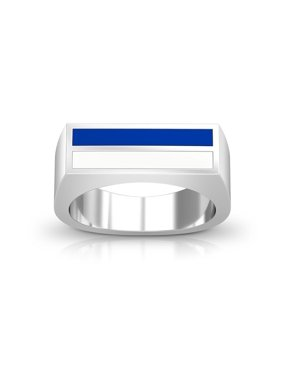 U.S. Air Force Academy - Enamel Ring In Blue And White