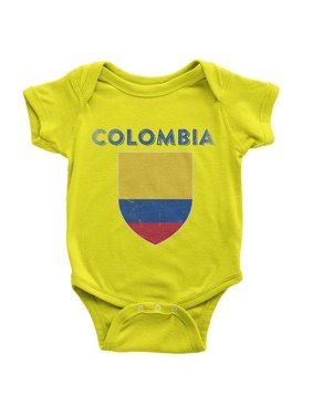 NYC FACTORY Colombia Flag T-Shirt Baby Bodysuit Vintage Boys II