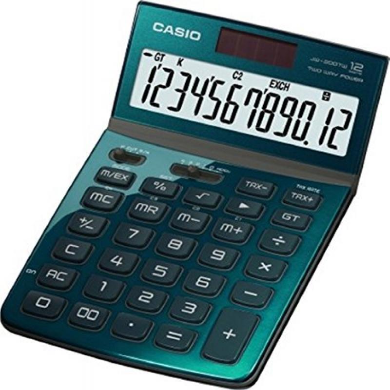 Casio Jw-200tw-gn 12-digit Calculator Gt Dual Power Jw200...