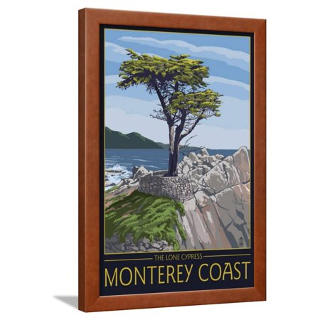Monterey Coast, Ca - Cypress Tree, c.2009 Framed Print Wall Art By Lantern (Cypress Frames)