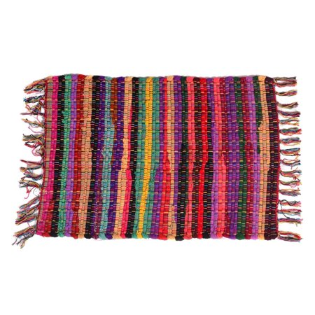 Rugs Area MystiqueDecors Multi Chindi Rag Rug Multicolor Cotton ...
