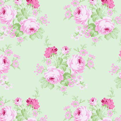 Charlotte~Medium Rose Bouquets~Tanya Whelan Floral Cotton Fabric by Free Spirit
