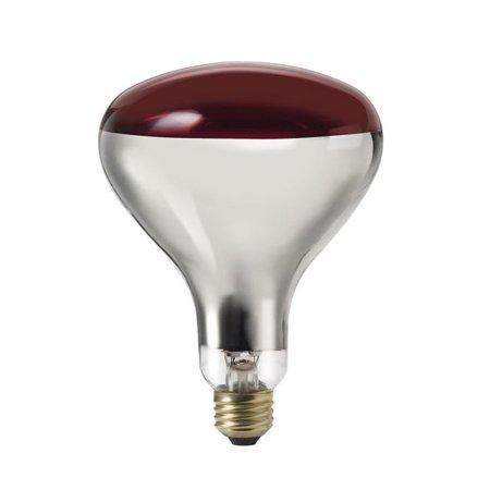 Philips 250w 120v R40 Red E26 FL60 Infrared Reflector Incandescent Light Bulb