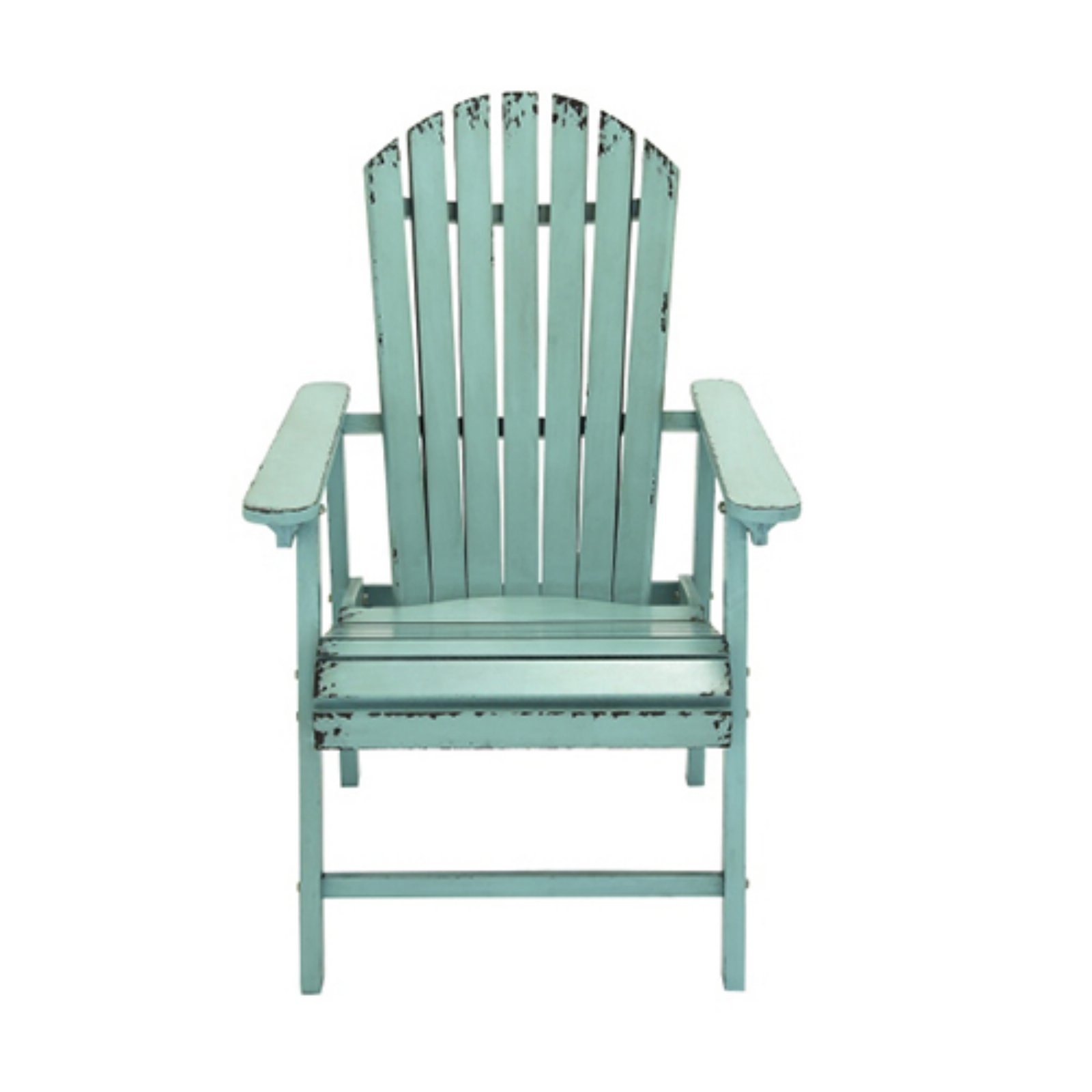 DecMode Rustic Country Distressed Adirondack Style Patio Chair