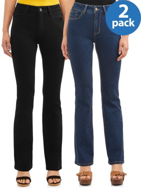 No Boundaries Juniors' mid rise bootcut jean 2 pack bundle