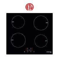 "GaslandChef IH60BF 24"" Built-in Induction Cooker, Vitro Ceramic Surface Electric Cooktop, 4 Burners, ETL"