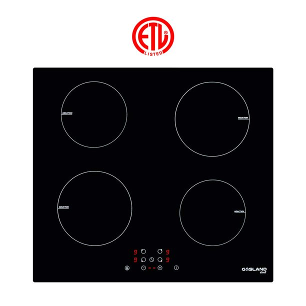 "GaslandChef IH60BF 24"" Built-in Induction Cooker, Vitro Ceramic Surface Electric Cooktop, 4 Burners, ETL"