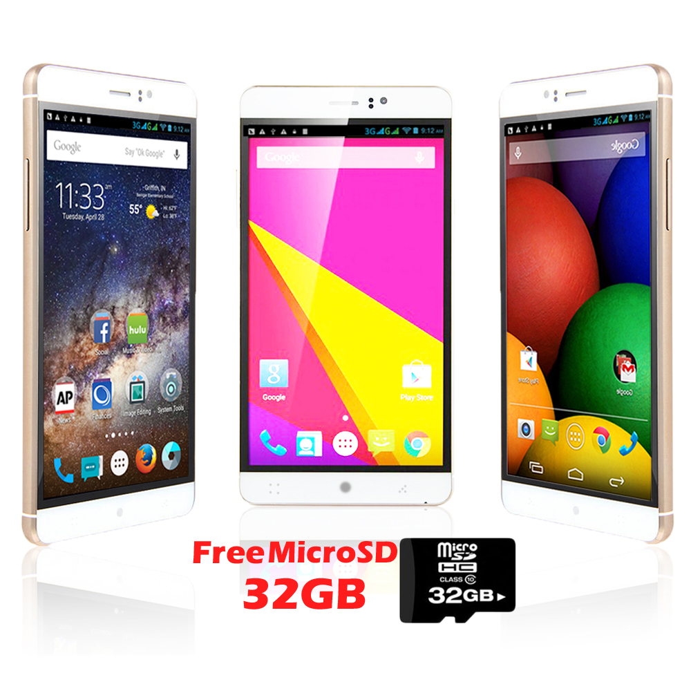 "Indigi® Factory Unlocked 3G 6"" DualSim SmartPhone Android 5.1 Lollipop w/ WiFi + Bluetooth Sync + 32gb microSD Included"