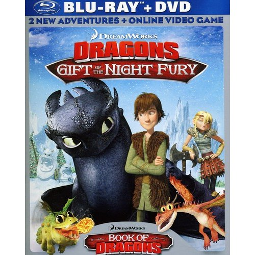 DreamWorks Dragons: Gift Of The Night Fury / Book Of Dragons (Blu-ray + DVD + Online Video Game) (Widescreen)