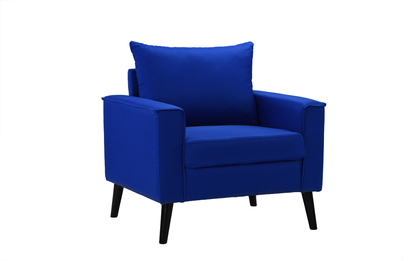 Modern Linen Fabric Armchair Living Room Accent Chair, Royal Blue by Casa Andrea Milano