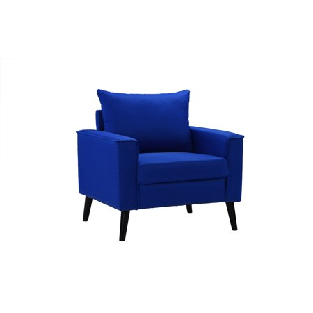 Blue Modern Accent Chairs.Modern Linen Fabric Armchair Living Room Accent Chair Royal Blue