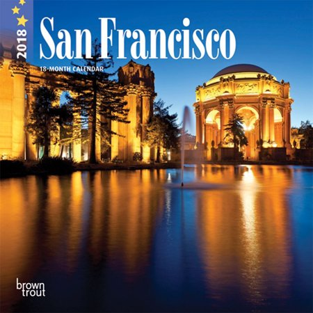 San Francisco 2018 7 X 7 Inch Monthly Mini Wall Calendar  Usa United States Of America California Pacific West City