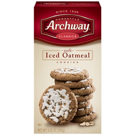 (2 Pack) Archway Soft Iced Oatmeal Cookies, 9.25