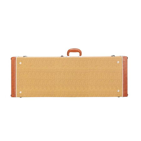Glarry Electric Guitar Square Hard Case Guitar Wooden Case Lockable Hardshell Case,Yellow