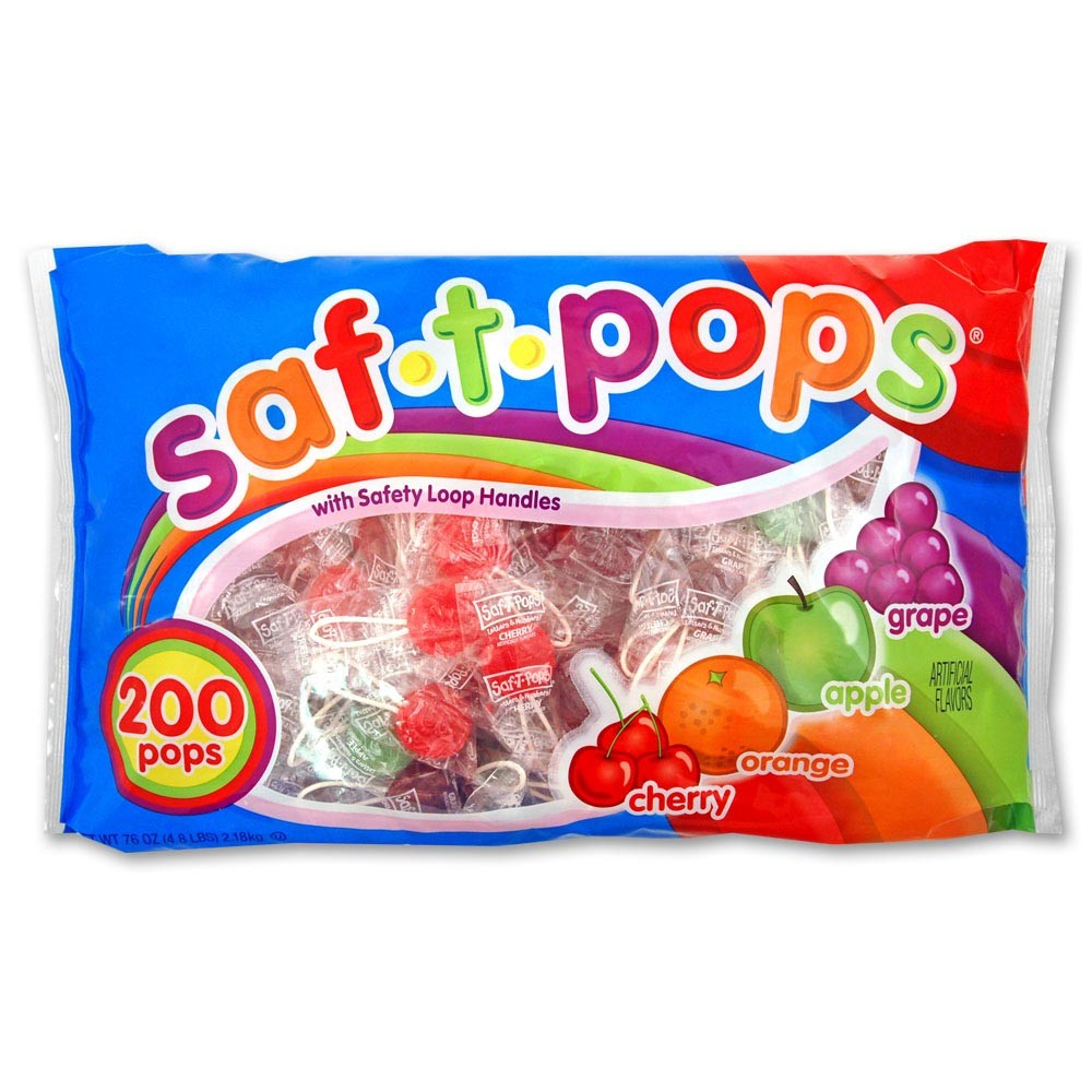 Saf-T-Pops Lollipops, 200 Ct, 76 Oz
