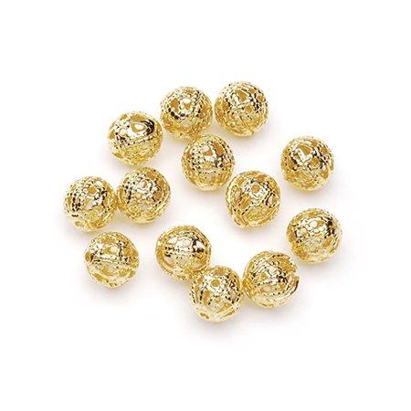 Filigree Beads - Gold - Round - 6Mm