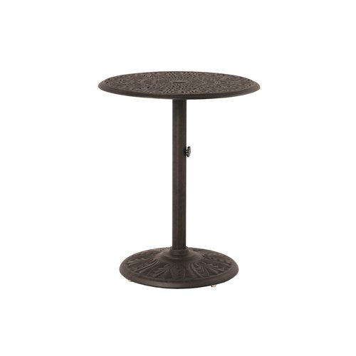 Fleur De Lis Living Merlyn Round Pedestal Aluminum Bar Table