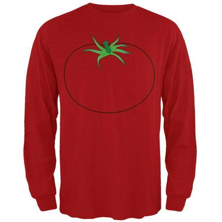 Halloween Fruit Vegetable Tomato Costume Mens Long Sleeve T Shirt - Halloween Inspired Fruit
