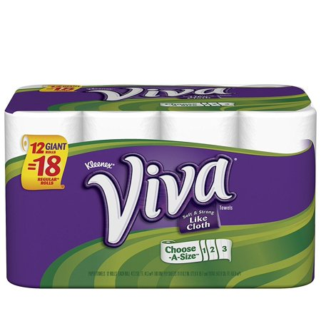 Choose A Size Giant Roll Paper Towels  12 Rolls  88 Rolls Nbwks Roll Count Chooseasize Clean Off Different Vsbqm Sheets Paper Towel Viva By Towels Spills    By Viva Ship From Us
