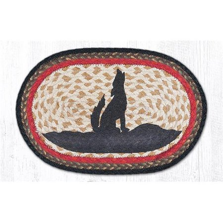Capitol Importing 01-469HC Coyote Silhouette Printed Swatch Oval Rug, 7.5 x 11 (Coyote Silhouette)