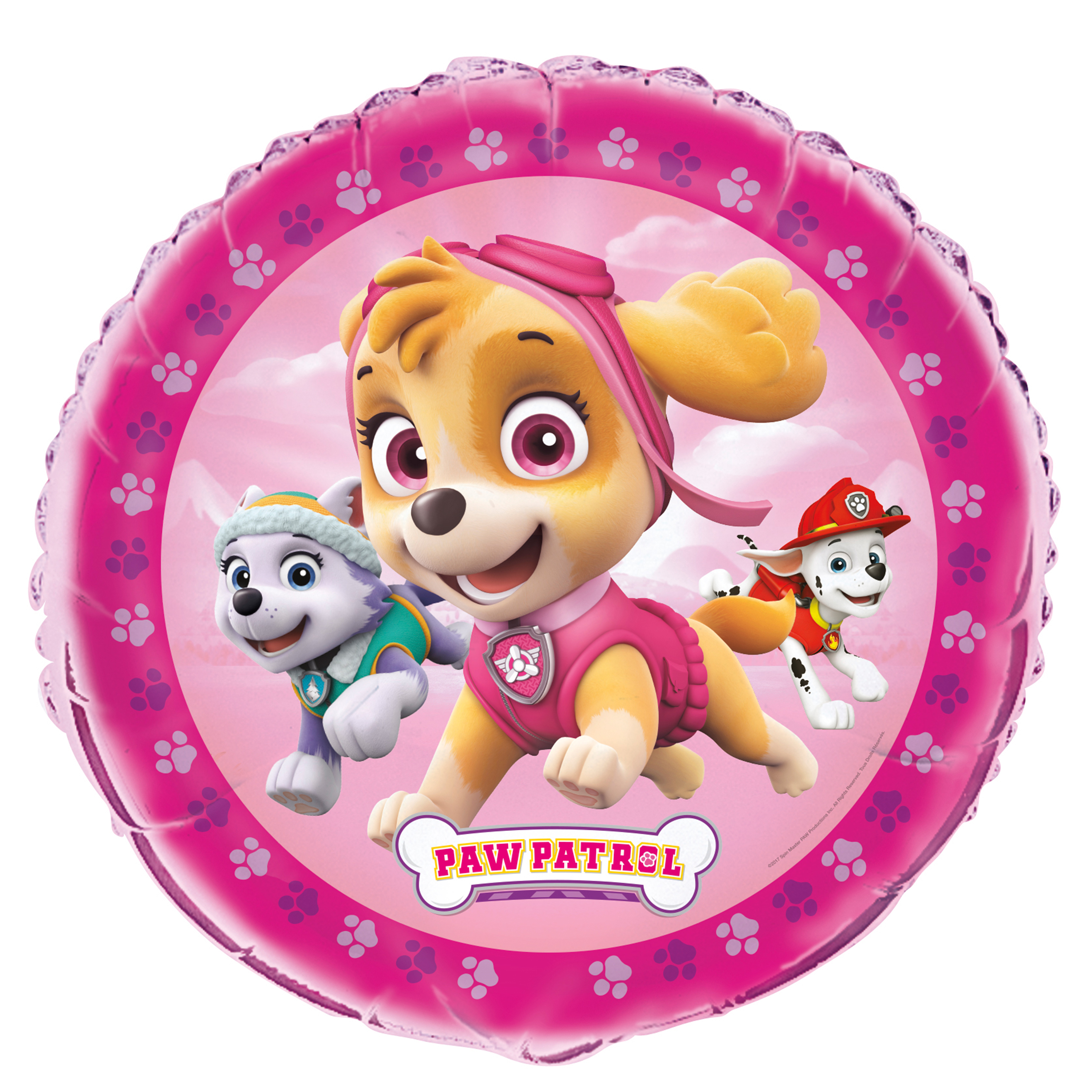 Foil Girl PAW Patrol Balloon, Round, 18 in, 1ct