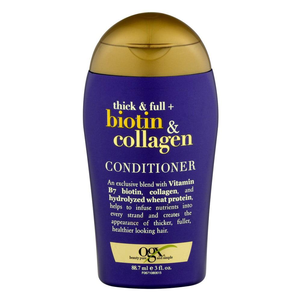 (2 Pack) OGX Thick & Full Biotin & Collagen Conditioner, 3 Oz