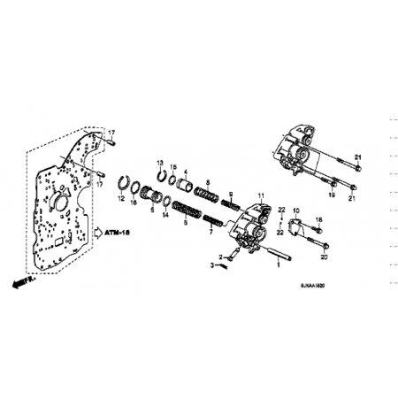 Honda 27860-P7W-000 Transmission Accumulator Body Honda