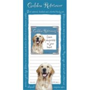 golden retriever memo pad notebook and magnet picture frame set