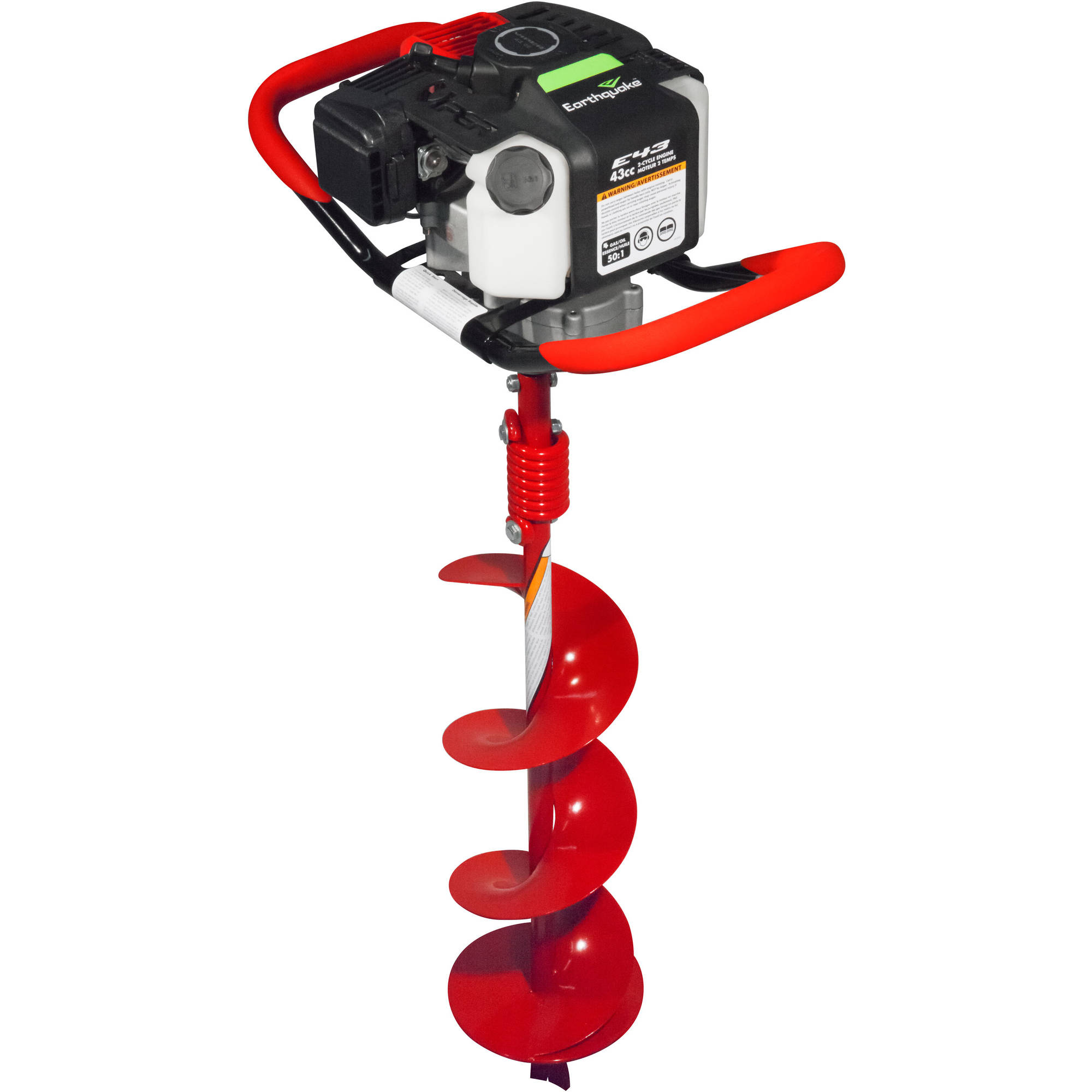 """Earthquake E43 with 8"""" Earth Auger, Red"""