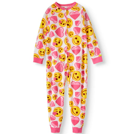 Girls' Emoji Onesie Pajama Sleeper (Little Girl & Big Girl) - Next Womens Onesie