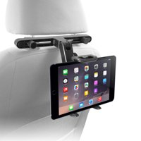 """Macally Adjustable Car Seat Headrest Mount and Holder for Apple iPad Air / Mini, Samsung Galaxy Tab, Kindle Fire, Nintendo Switch, and 7"""" to 10"""" Tablets (HRMOUNT)"""