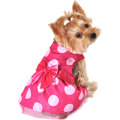 Simplydog Pink Dot Party Dress,multiple