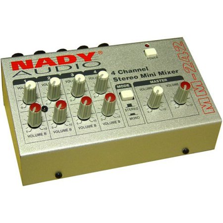 Nady MM-242 Stereo Mini Mixer Perp Four Channel (4 Channel Video Mixer)