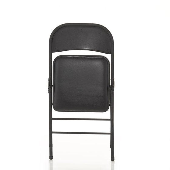 Phenomenal Cosco Vinyl Folding Chair 4 Pack Black Pabps2019 Chair Design Images Pabps2019Com