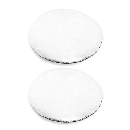 7-Inch Wool Polishing Pad Hook and Loop Buffing Wheel for Polisher and Buffer 2pcs (Buffing Wheel 8 Inch)
