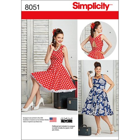 Simplicity Misses\' Plus Size 20W-28W Dresses Pattern, 1 Each ...