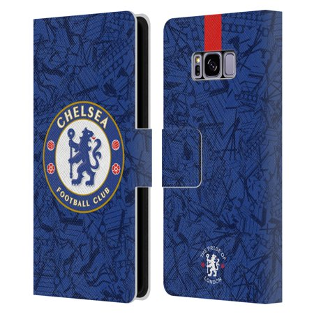 Head Case Designs Officially Licensed Chelsea Football Club 2019/20 Kit Home Leather Book Wallet Case Cover Compatible with Samsung Galaxy S8