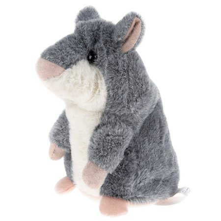 Sears Electronics (Plush Interactive Toys PRO Talking Hamster Repeats What You Say Electronic Pet Chatimals Mouse Buddy for Boy and Girl, 5.7 x 3 inches(gray))