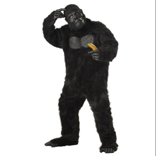 Black Gorilla Monkey Ape Adult Halloween Costume