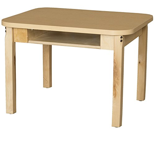 Wood Designs HPL1824DSK29 Classroom High Pressure Laminate Desk with Hardwood Legs, 29""