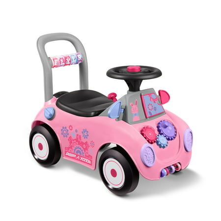 Radio Flyer, Creativity Car, Ride-on and Child Push Walker, Pink