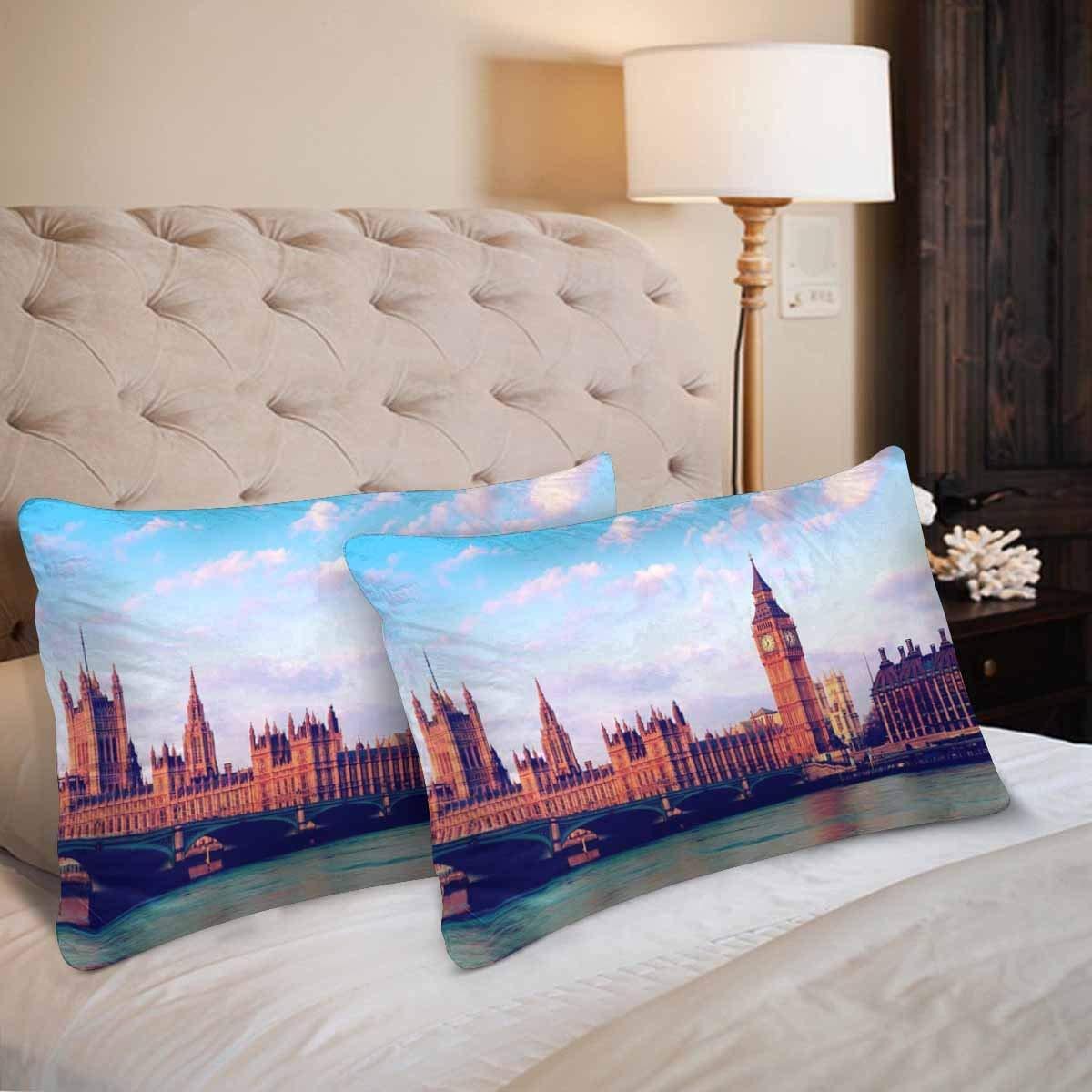 GCKG Retro tower Big Ben Bridge Early Morning Light London Pillow Cases Pillowcase 20x30 inches Set of 2 - image 2 de 4