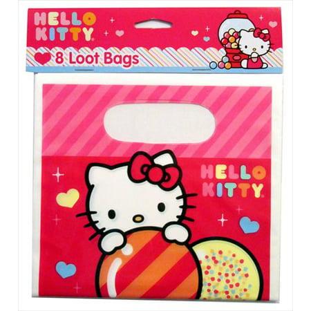 Hello Kitty Goody Bags (Hello Kitty 'Sweet Gumdrop' Favor Bags)