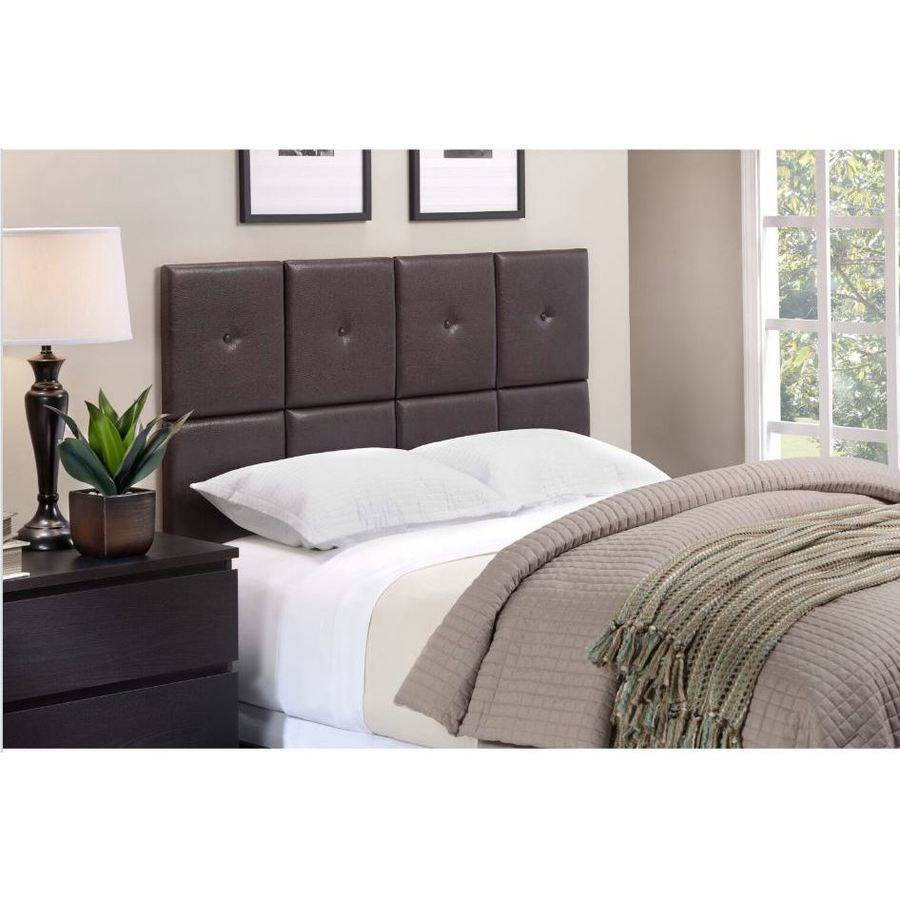 foremost tessa espresso pu headboard tiles with tuft fullqueen