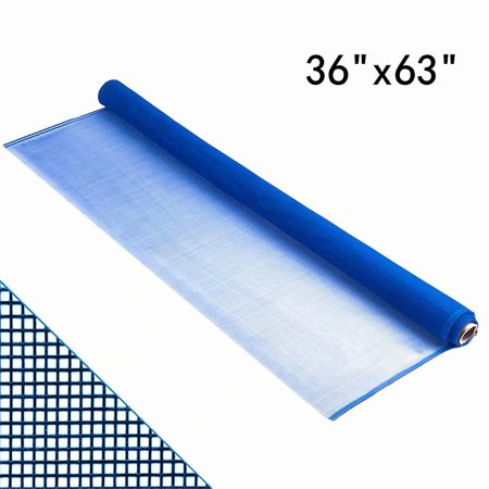 "Shatex Roll Window Screen Mesh, DIY Nylon Screen Replacement Mesh Fabric, Anti-Mosquito/Insect Barrier, 36""x63"", LightBlue"