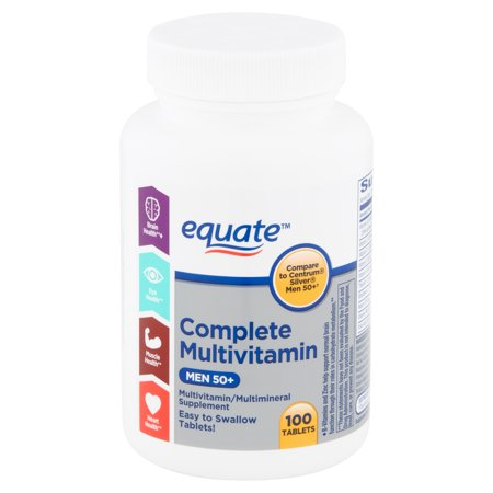 Equate Complete Multivitamin Tablets, Men 50+, 100