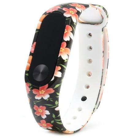 New Fashion Pattern Tpu Smart Wrist Watch Strap For Xiaomi Miband 2