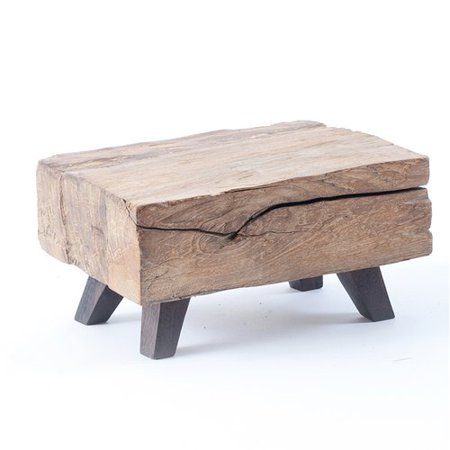 Union Rustic Kwan Wood Block Mini End Table