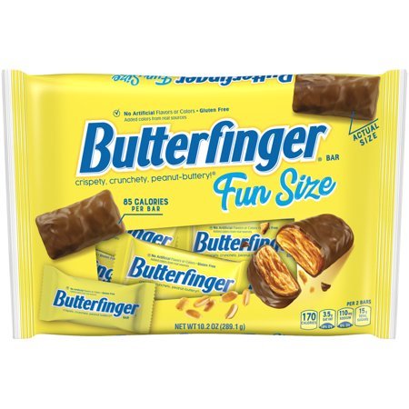 Butterfinger Milk Chocolate Candy Bars, Fun Size, 10.2oz